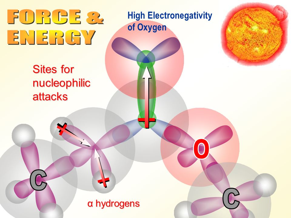 Sites for nucleophilic attacks High Electronegativity of Oxygen