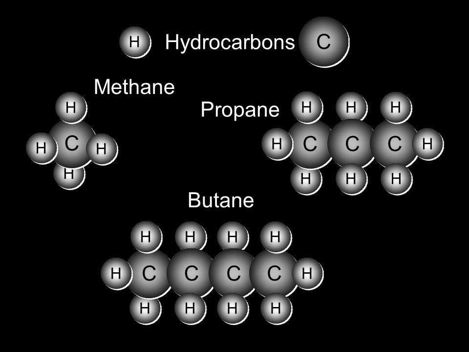 H H C C H H H H H H C C C C H H H H H H H H C C H H Hydrocarbons H H C C H H H H H H Methane H H C C H H H H H H C C H H H H C C H H C C H H H H H H B