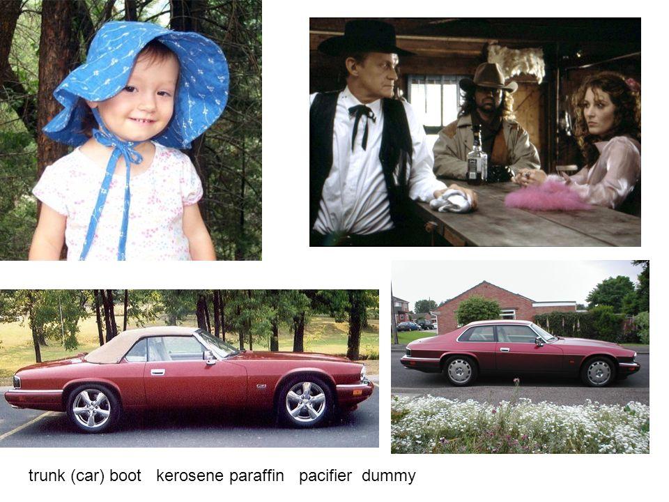 trunk (car) boot kerosene paraffin pacifier dummy