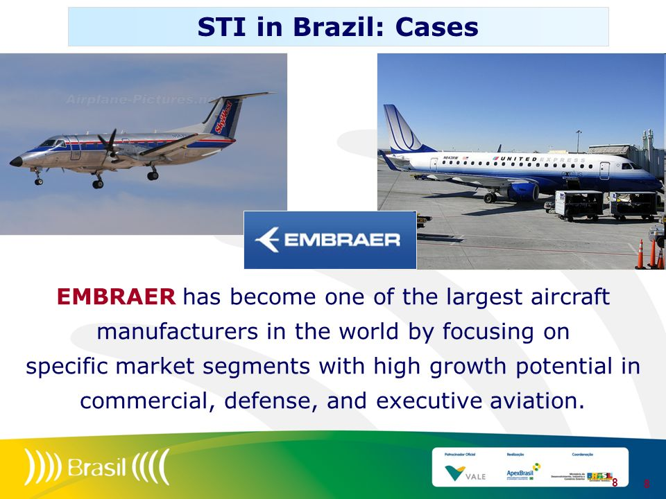 EMBRAER has become one of the largest aircraft manufacturers in the world by focusing on specific market segments with high growth potential in commer