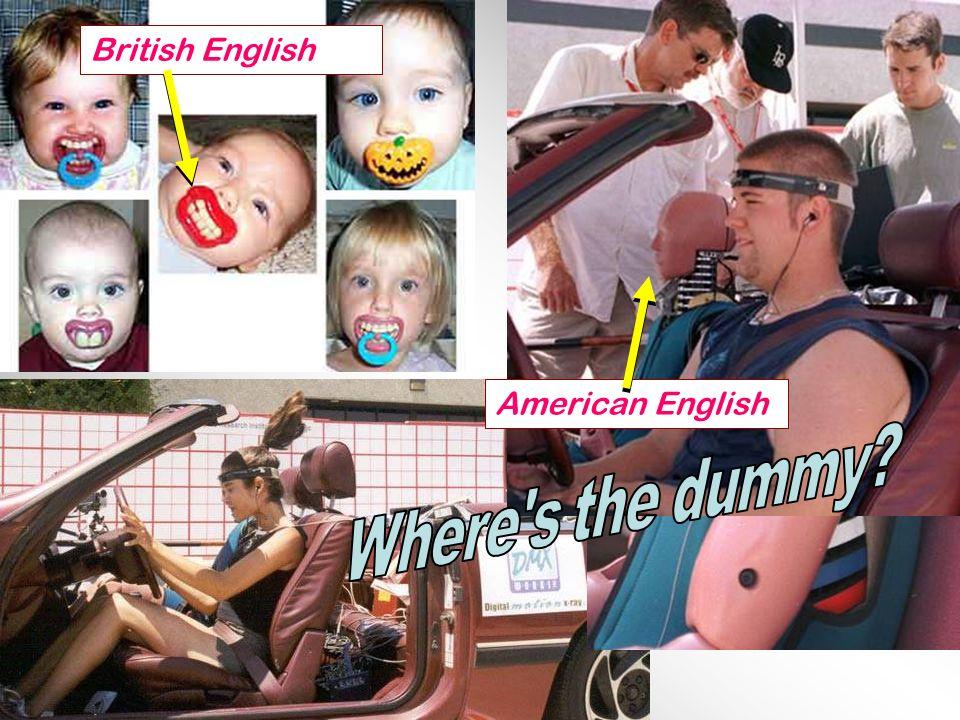 American English British English
