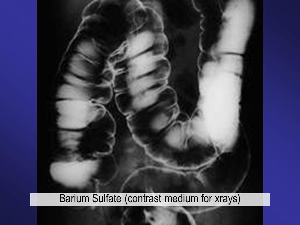 Barium Sulfate (contrast medium for xrays)