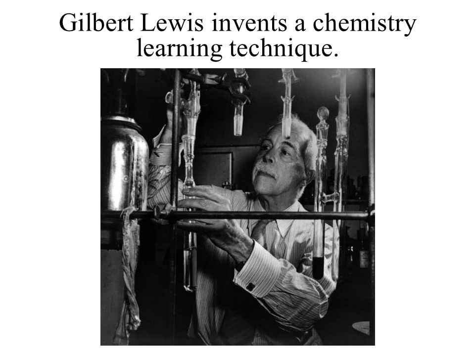 Gilbert Lewis invents a chemistry learning technique.