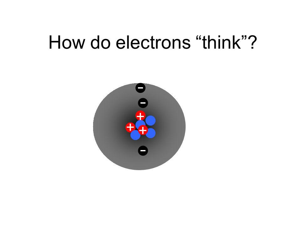 How do electrons think + + +