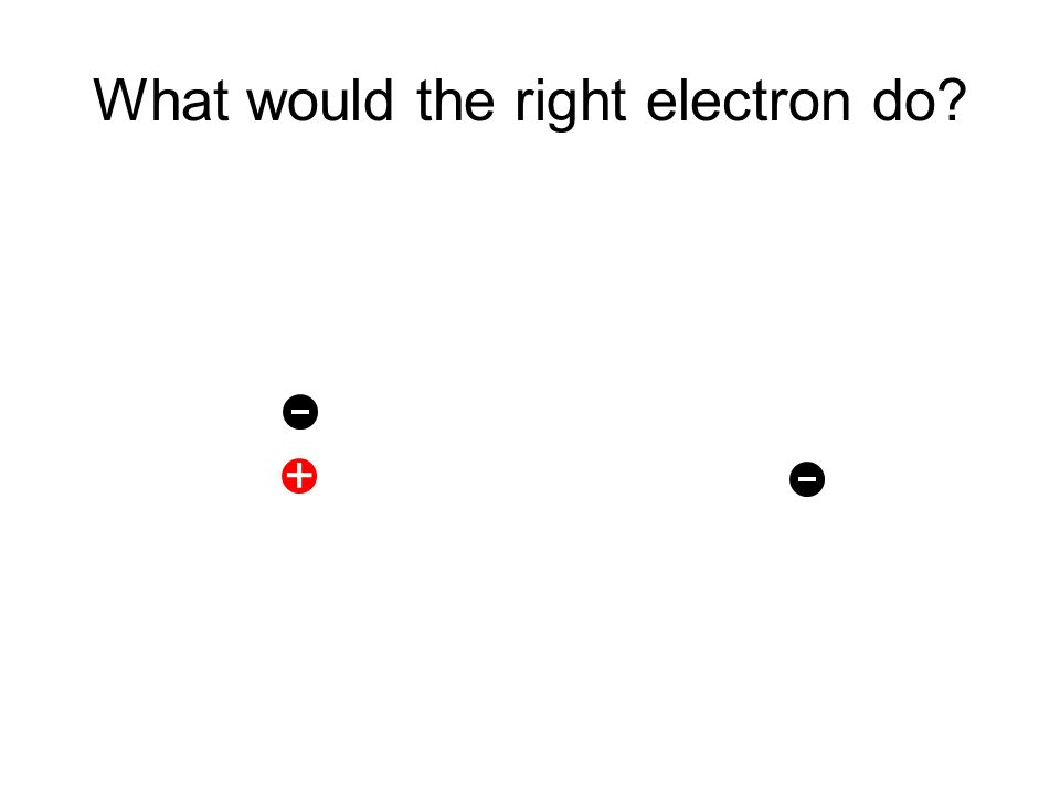 What would the right electron do +