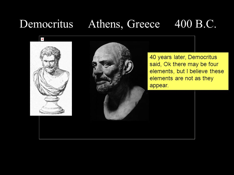 Democritus Athens, Greece 400 B.C.