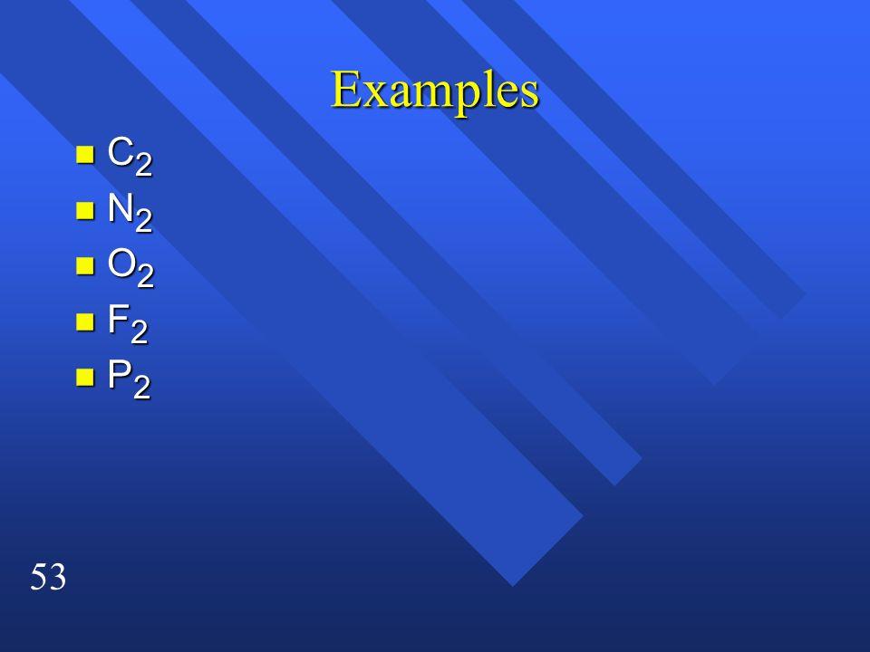 53 Examples nC2nC2nC2nC2 nN2nN2nN2nN2 nO2nO2nO2nO2 nF2nF2nF2nF2 nP2nP2nP2nP2