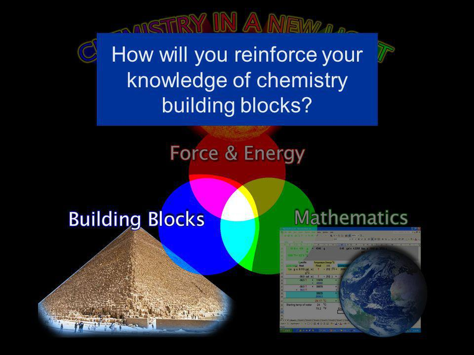 How will you reinforce your knowledge of chemistry building blocks