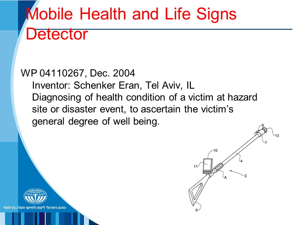Mobile Health and Life Signs Detector WP , Dec.