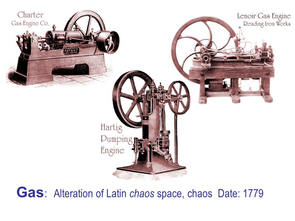 Gas : Alteration of Latin chaos space, chaos Date: 1779