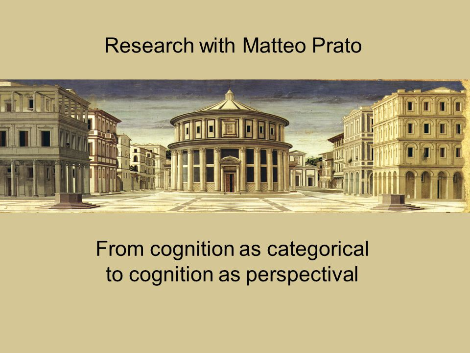 From cognition as categorical to cognition as perspectival Research with Matteo Prato