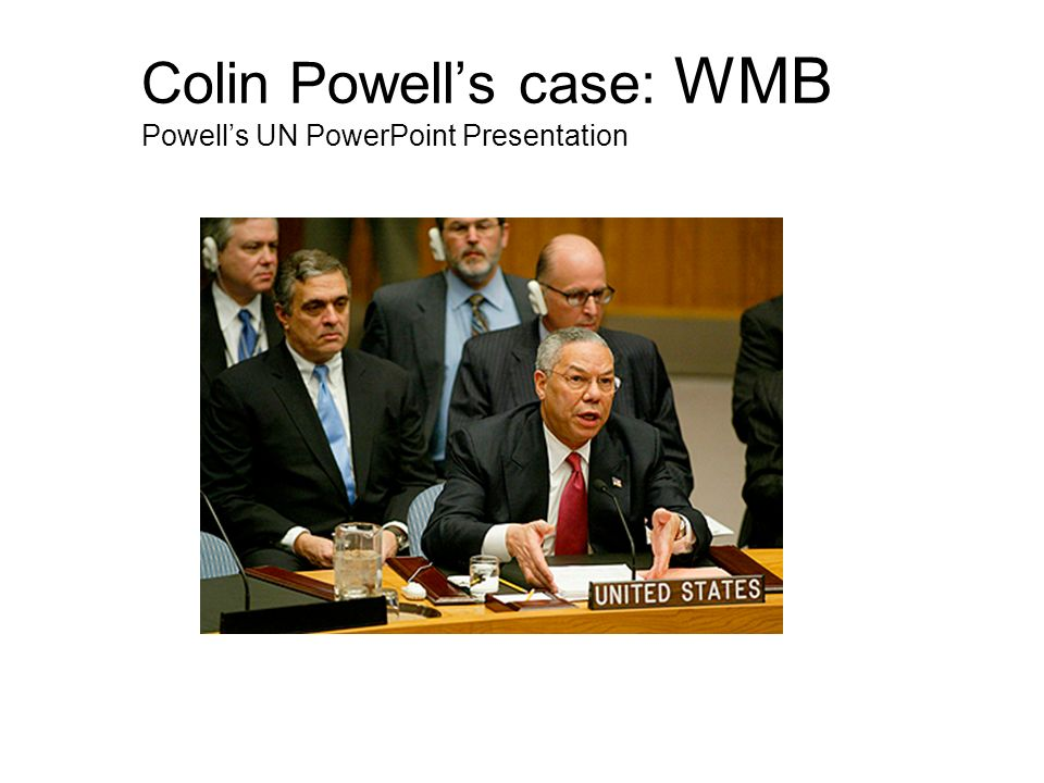 Powell (repeatedly): Here you will see...
