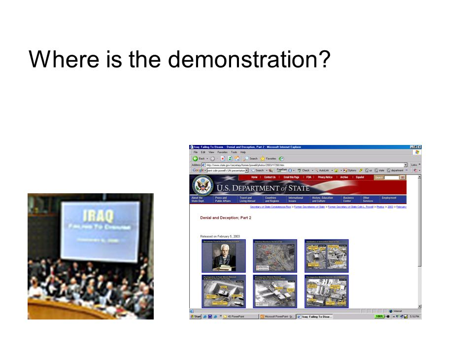 Where is the demonstration?