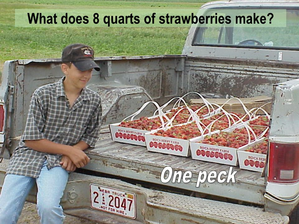 Strawberries and other fruits are often sold in one quart containers. Are these quarts the same size as a quart of strawberry juice?