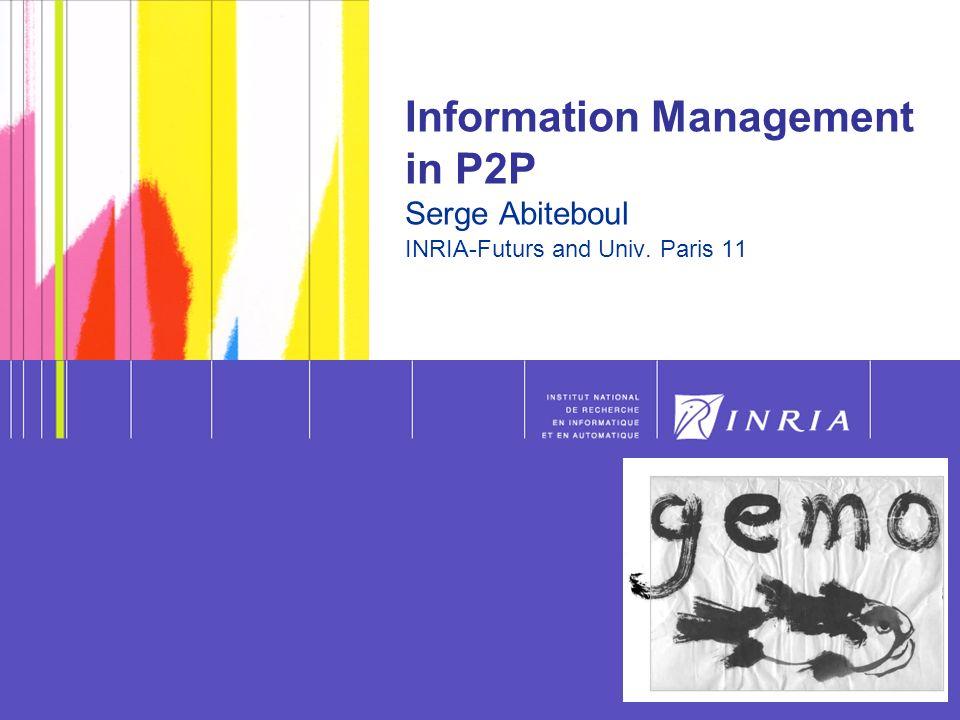 1 P2P Data Management, 2006, S.