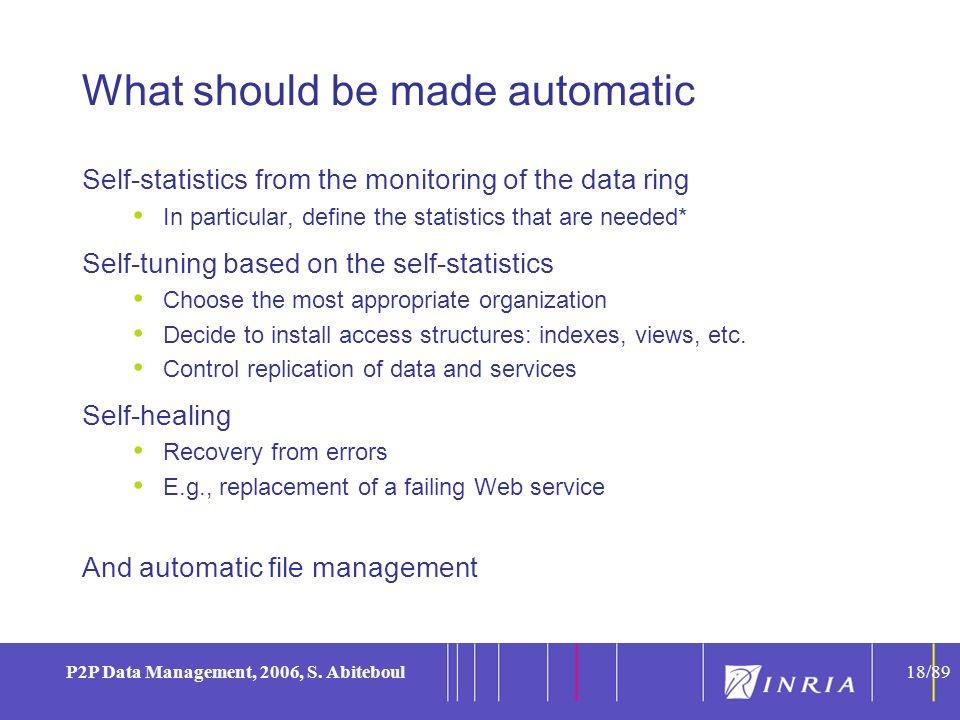 18 P2P Data Management, 2006, S.