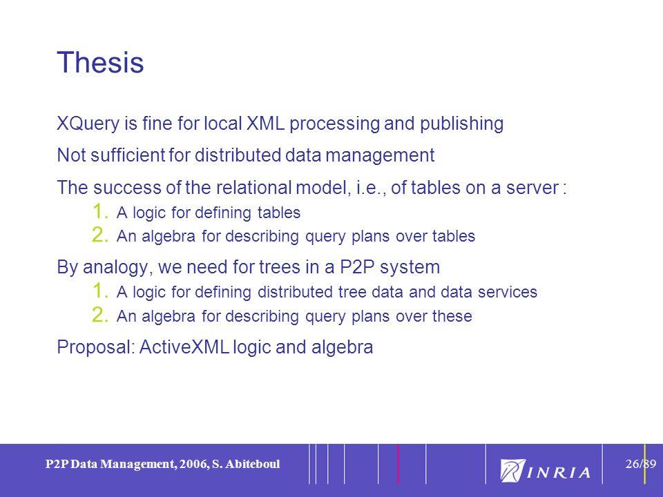 26 P2P Data Management, 2006, S.