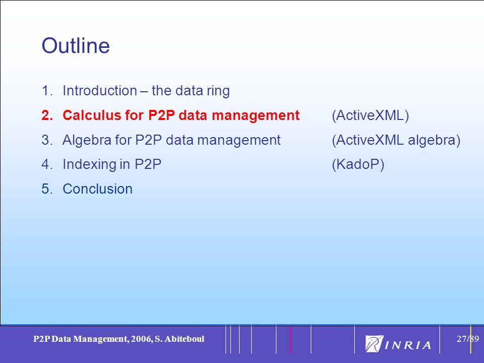 27 P2P Data Management, 2006, S.
