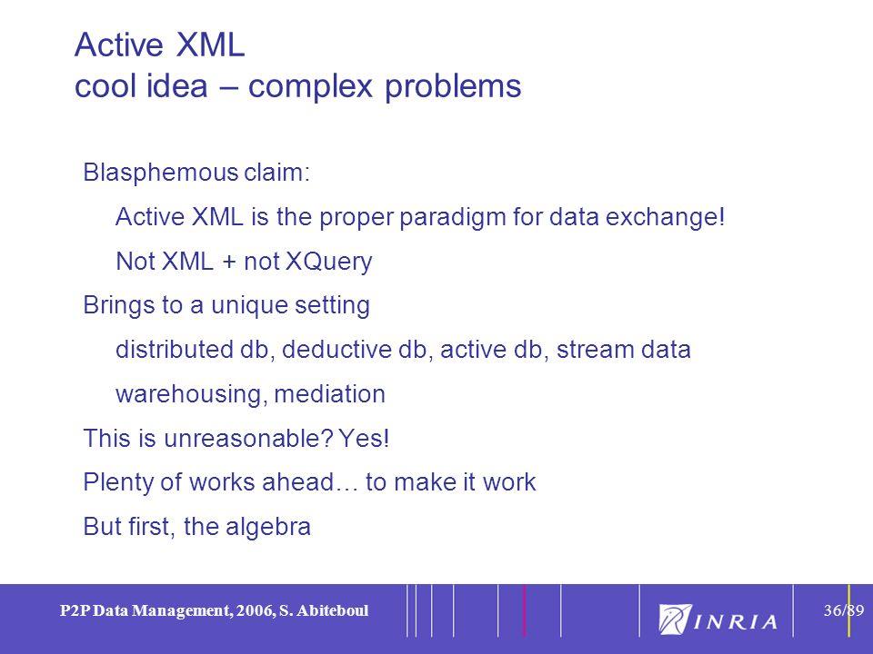 36 P2P Data Management, 2006, S.
