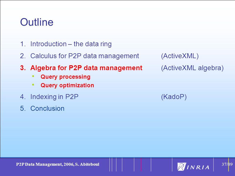 37 P2P Data Management, 2006, S.