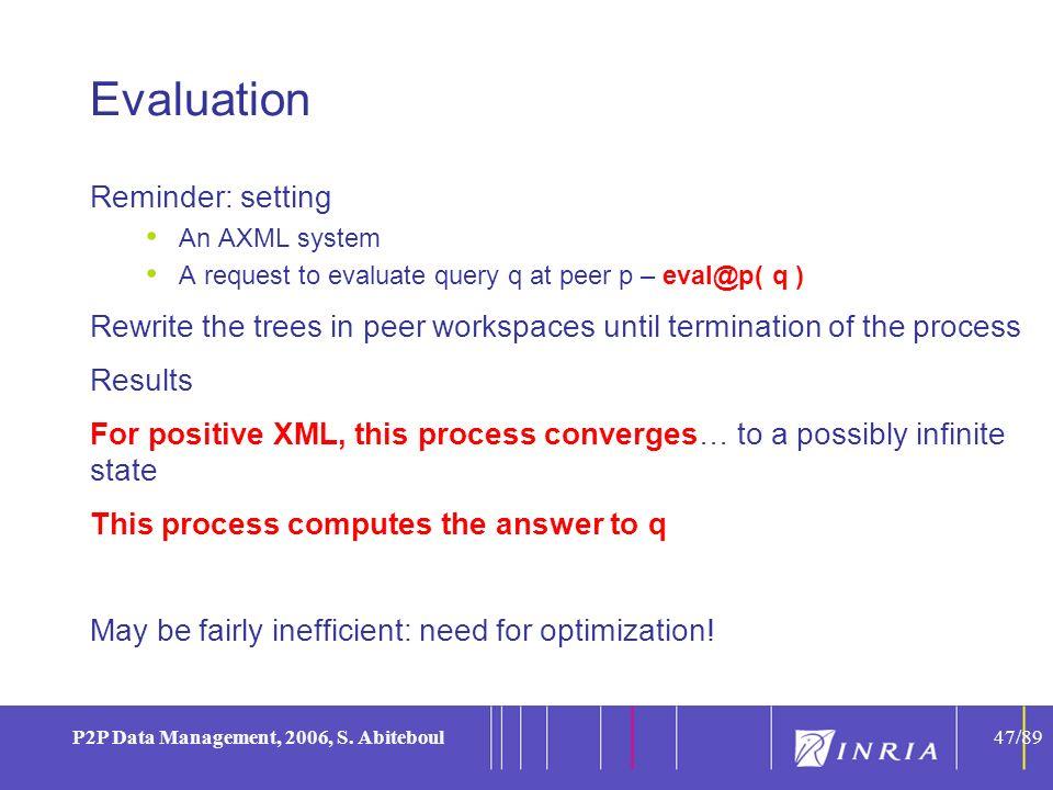 47 P2P Data Management, 2006, S.
