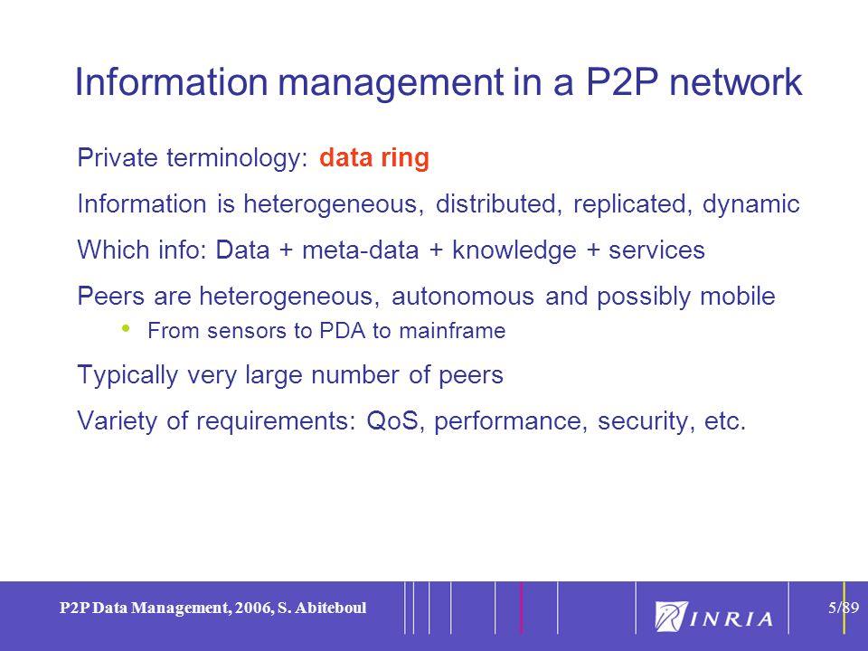 5 P2P Data Management, 2006, S.