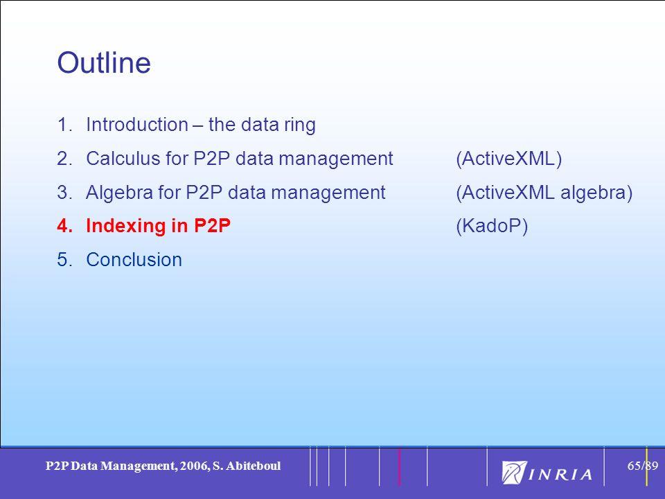 65 P2P Data Management, 2006, S.