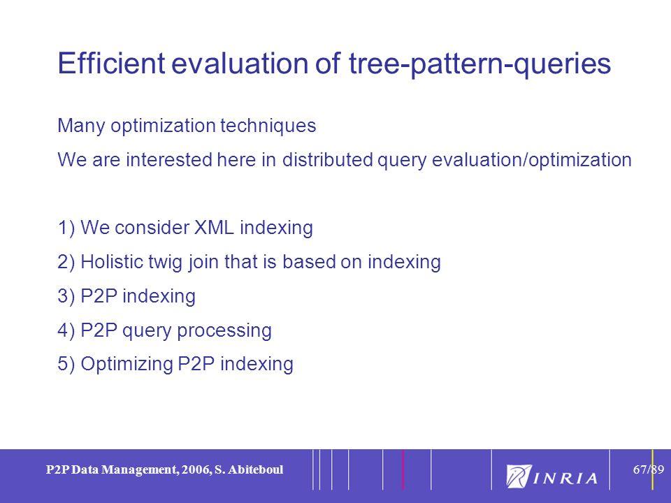 67 P2P Data Management, 2006, S.