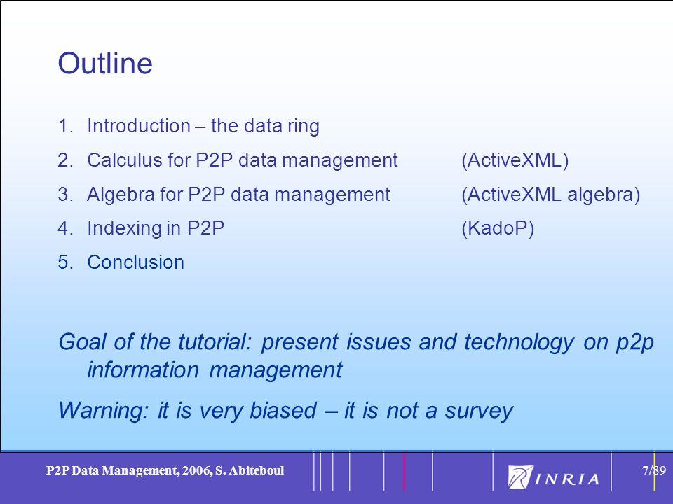 7 P2P Data Management, 2006, S.