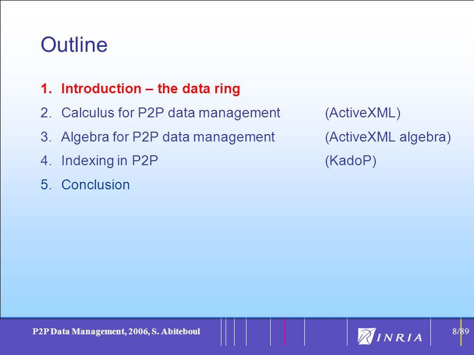 8 P2P Data Management, 2006, S.