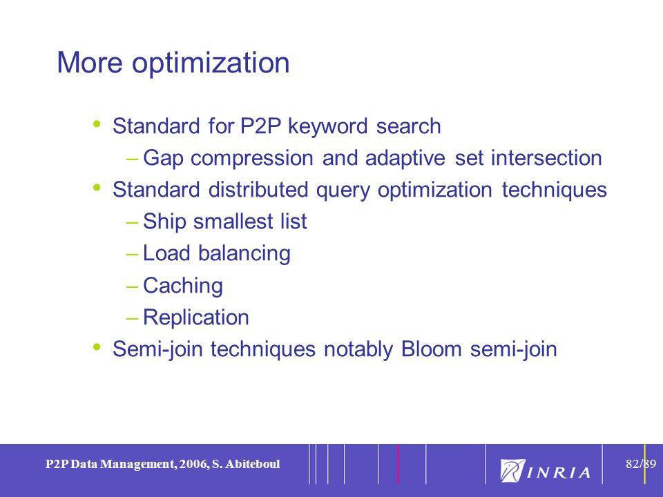 82 P2P Data Management, 2006, S.