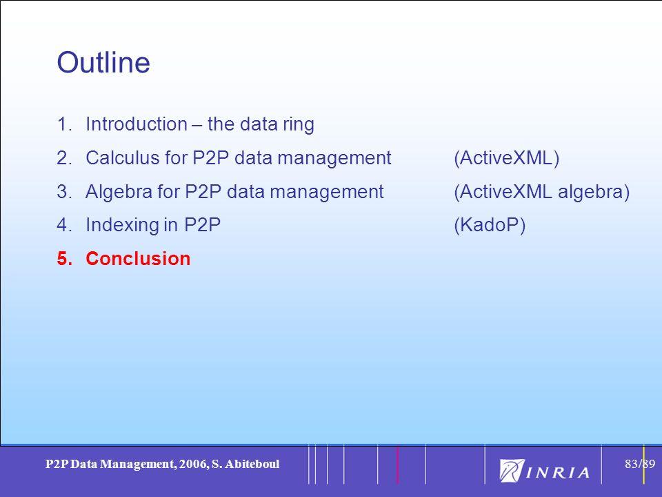 83 P2P Data Management, 2006, S.