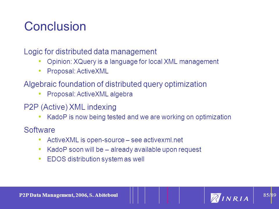 85 P2P Data Management, 2006, S.
