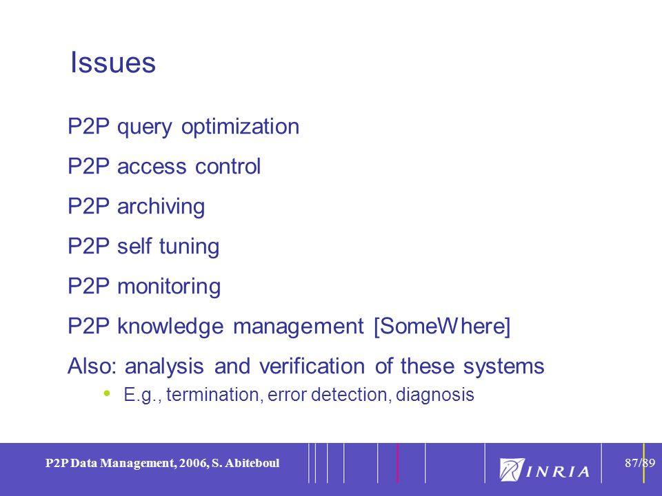 87 P2P Data Management, 2006, S.