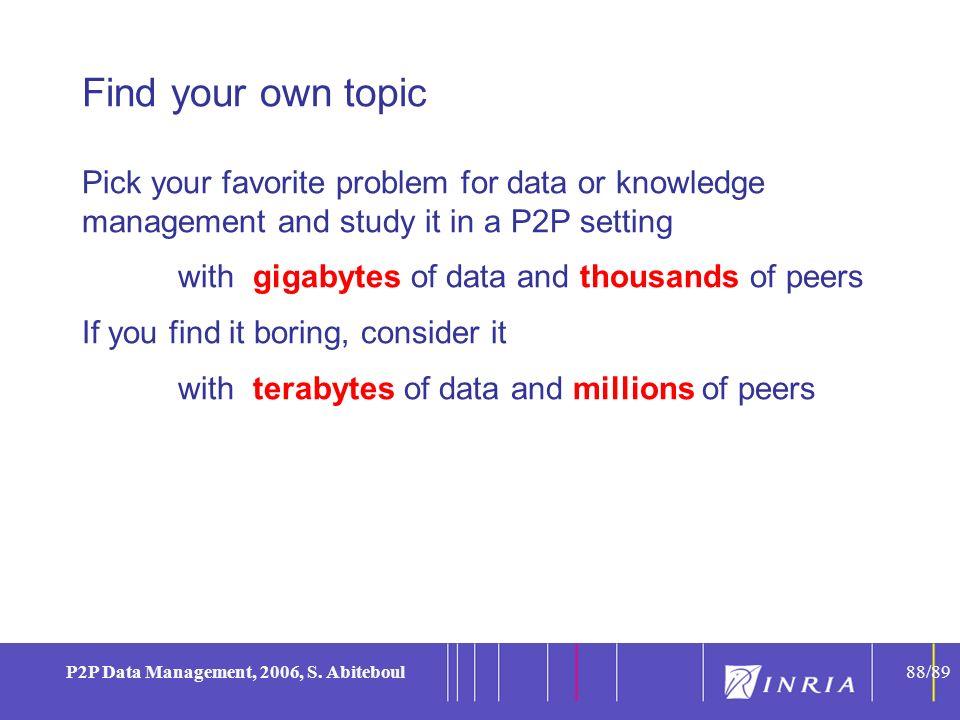 88 P2P Data Management, 2006, S.