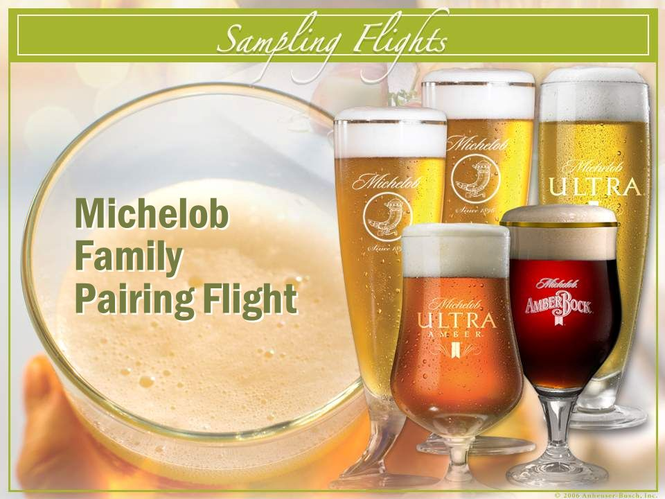 Michelob Family Pairing Flight Michelob Family Pairing Flight
