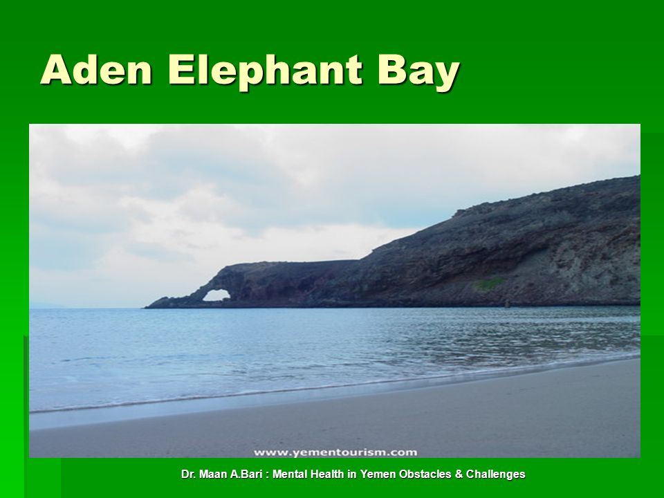 Dr. Maan A.Bari : Mental Health in Yemen Obstacles & Challenges Aden Elephant Bay