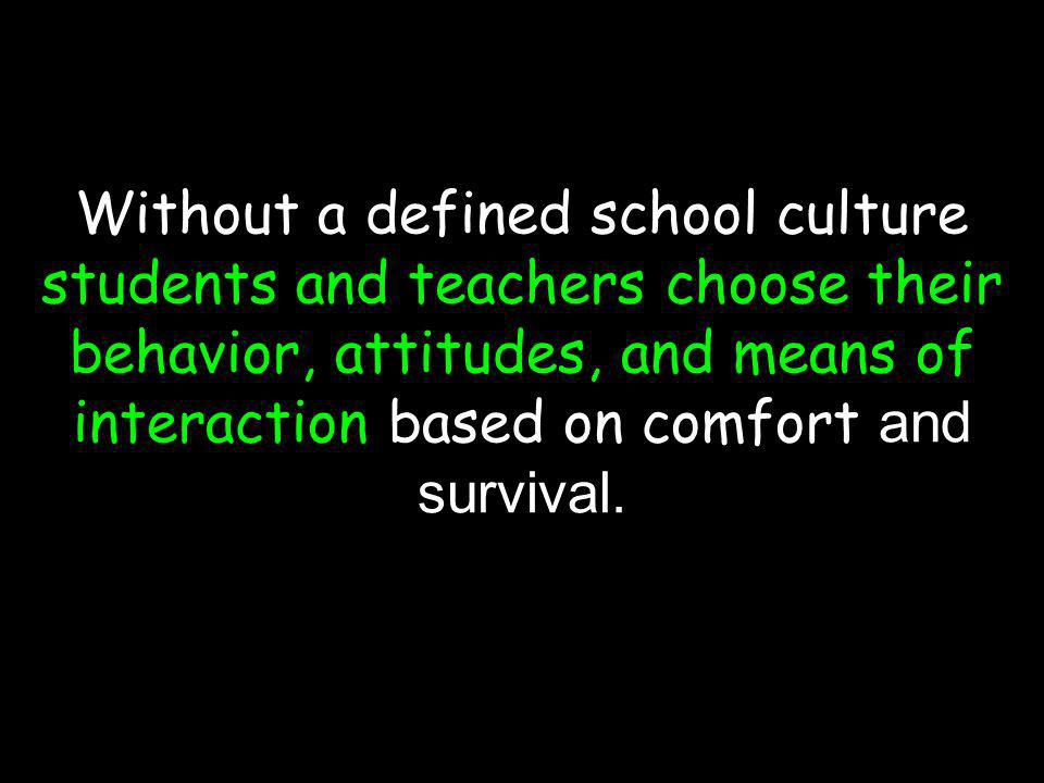 (c) susan kovalik The Center for Effective Learning 22 Without a defined school culture students and teachers choose their behavior, attitudes, and me