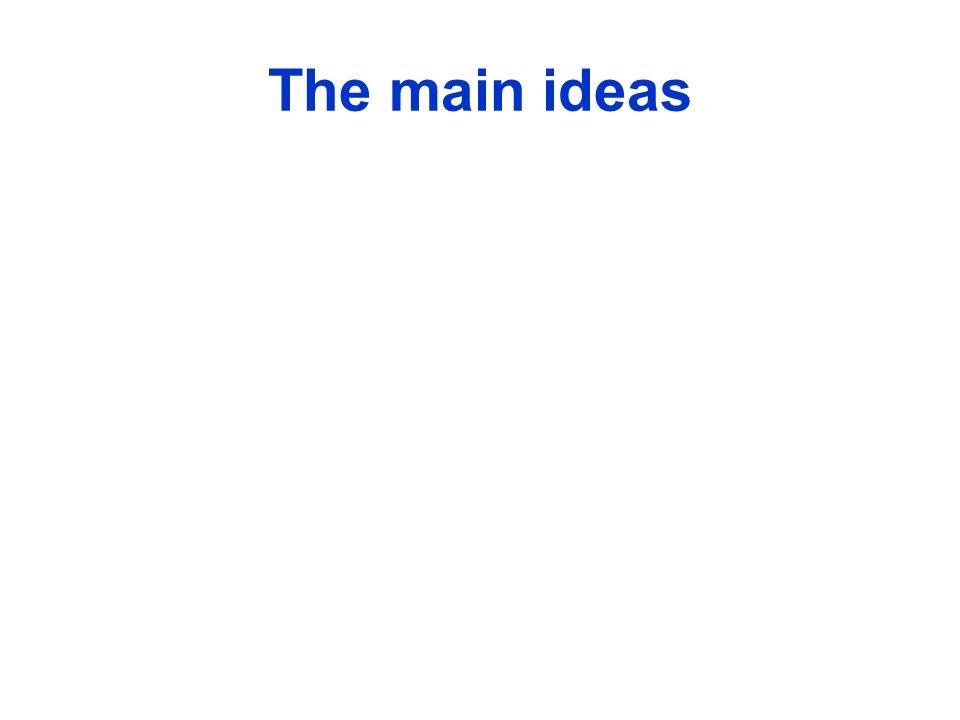 The main ideas