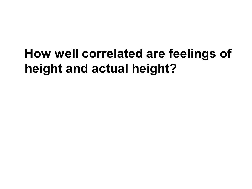 How well correlated are feelings of height and actual height?