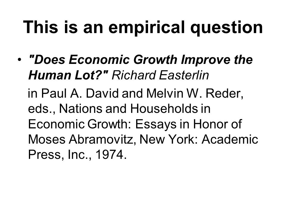 This is an empirical question