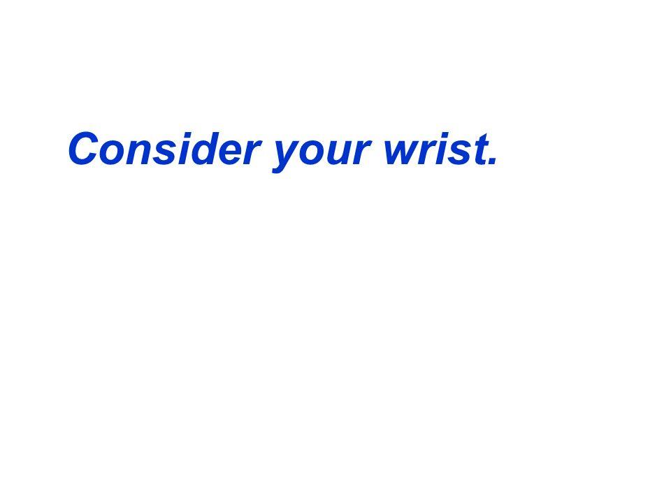 Consider your wrist.