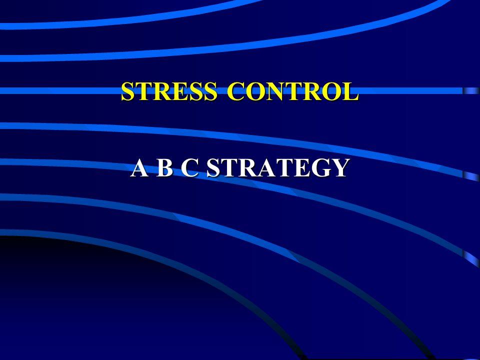 STRESS CONTROL A B C STRATEGY