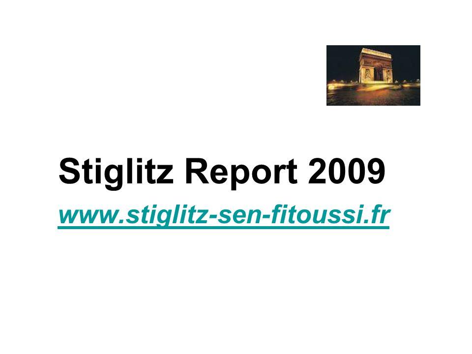 Stiglitz Report 2009 www.stiglitz-sen-fitoussi.fr