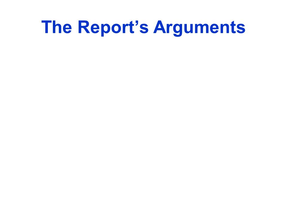 The Reports Arguments