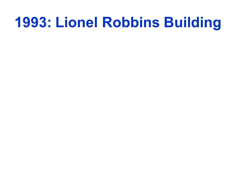 1993: Lionel Robbins Building