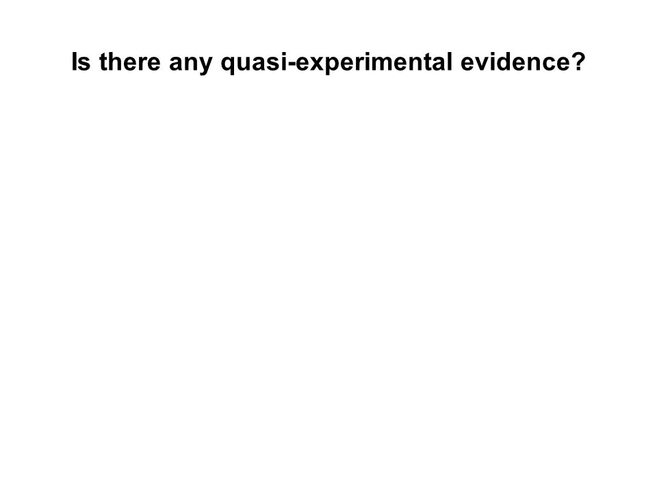 Is there any quasi-experimental evidence?
