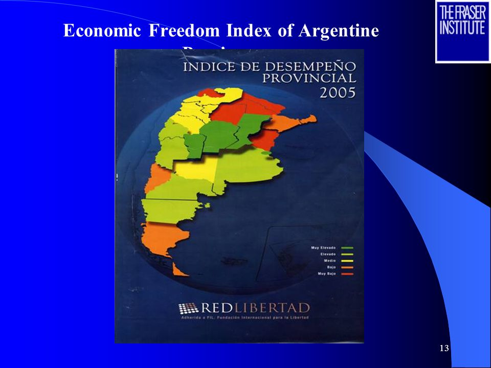 13 Economic Freedom Index of Argentine Provinces