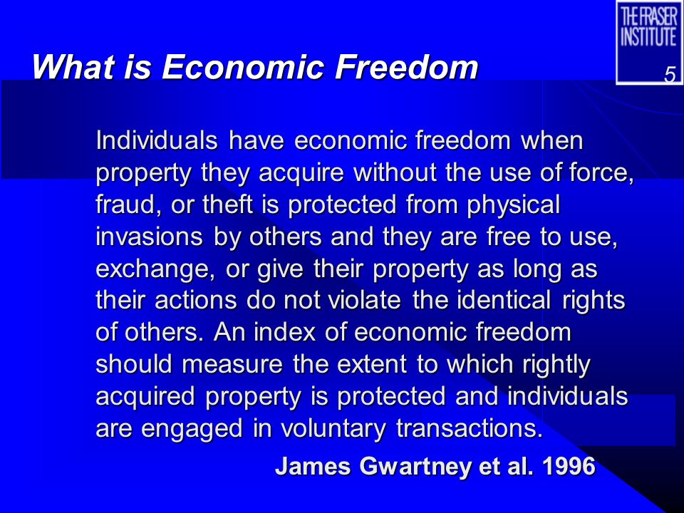 4 What is The Economic Freedom of the World Index.