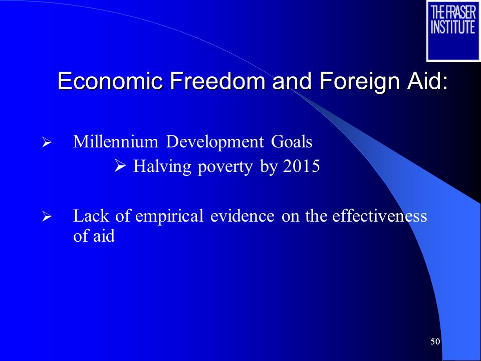 49 New research: Economic Freedom and Foreign Aid